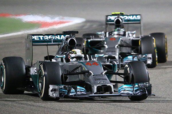 A 2014-es világbajnok csapat - Lewis Hamilton és Nico Rosberg
